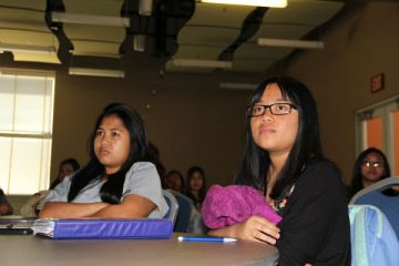 """The Rape Crisis Center """"This presentation opened our eyes to a deeper, more truthful aspect in our society today,"""" freshman Alexandra Sunga Photo Credit: Miruel Talaro"""