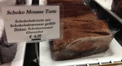 Chocolate mousse torte cake at Cafe Schwarzenberg, Vienna