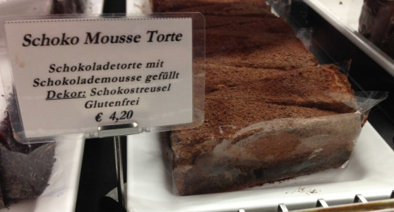 Chocolate mousse torte cake at Cafe Schwarzenberg, Vienna