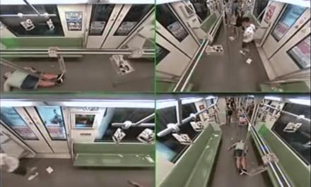 Ataque de pánico en el metro de Shanghai… por un desmayo