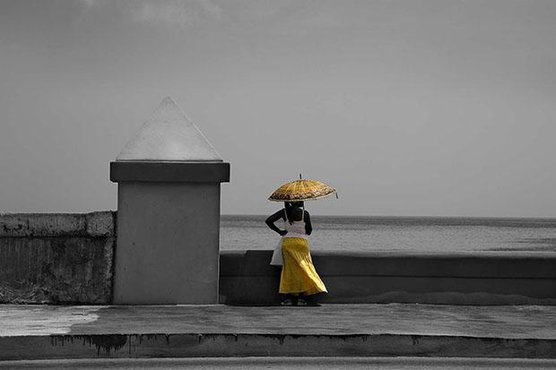 Uno de los trabajos de Robés de de exposición Habana