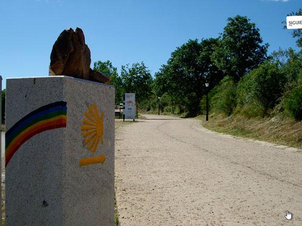 Camino de Santiago a su paso por Rabanal del Camino en la Maragatería