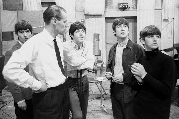 Georges Martin con The Beatles