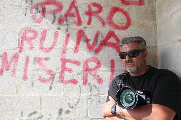 El desaparecido fotoperiodista leonés Norberto Cabezas