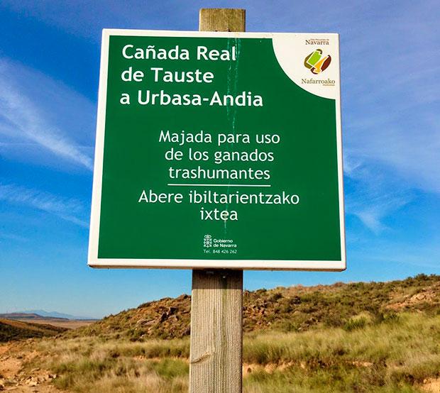 Cañada Real de Tauste a Urbasa-Andia (Navarra)