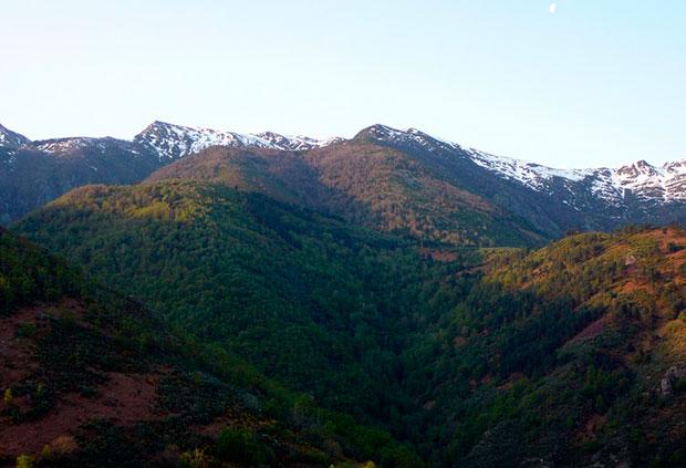 Sierra de Ancares en la provincia de León
