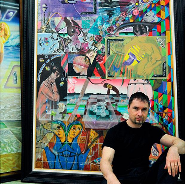 El pintor leonés Nadir M. García
