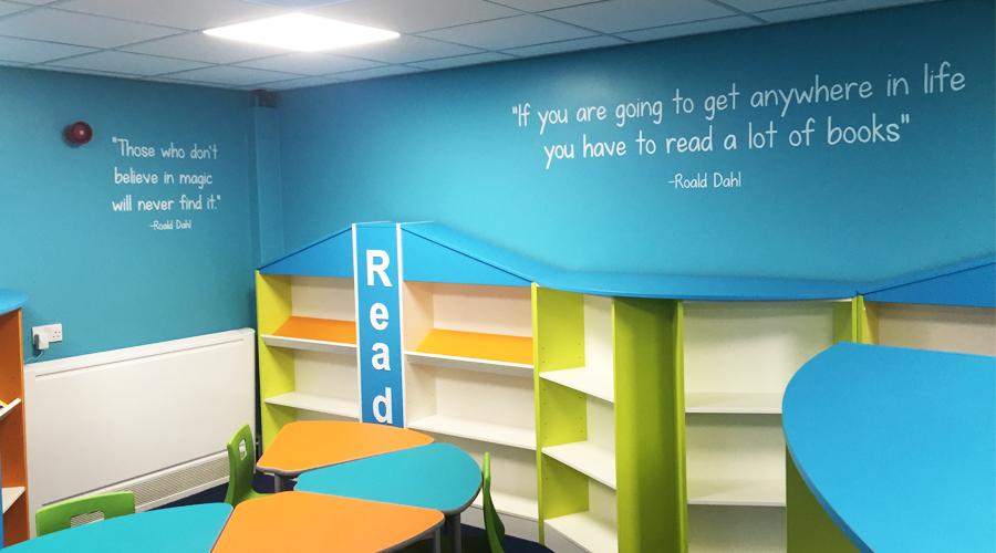 Roald Dahl Quotes Wallpaper Schools Space3 Signage Graphics Display Yorkshire