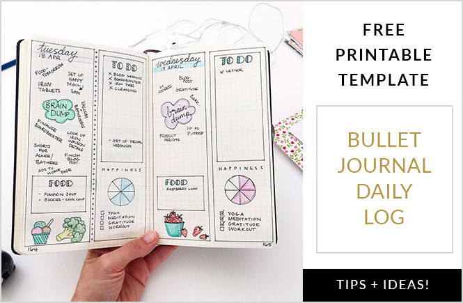 Bullet Journal Daily Log Free Printable Template Plus Tips and Ideas - free daily log