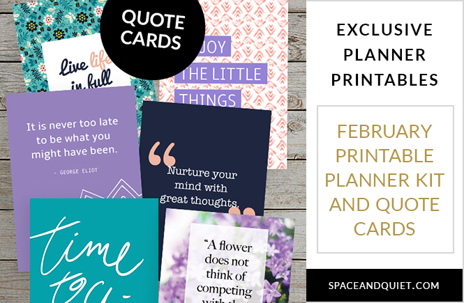 Exclusive February Printable Planner Kit - Sneak Peek!