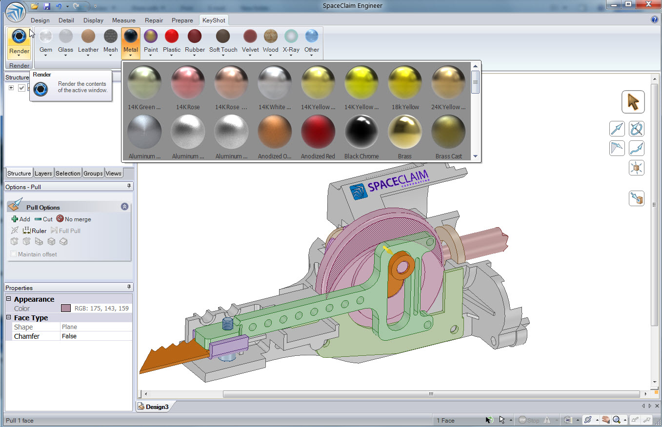 3d Programma 3d Design Software Strategic Partnerships Spaceclaim Keyshot