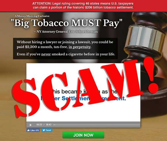 STATE ATTORNEY PHIL ARCHER Scam Facebook Ad Claims $2,300 a Month - master settlement agreement