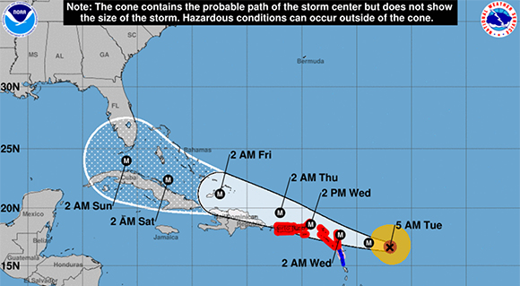 HURRICANE TRACKER Irma Jumps To Category 5 with 175 MPH Winds