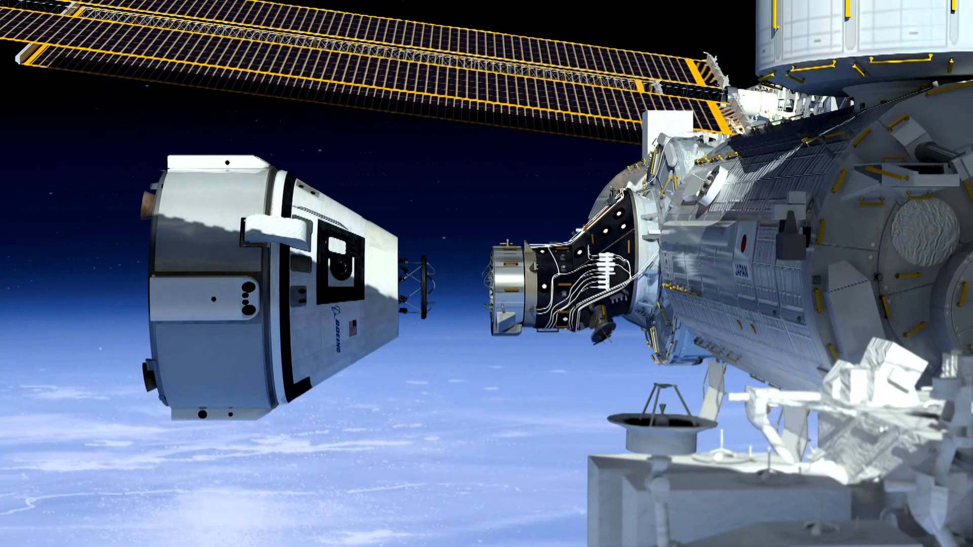 Iss Hd Wallpaper Commercial Crew Docking Adapter To Be Installed On Iss Via