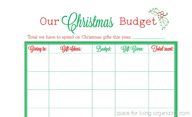 Christmas Budget Planning Printable - budget planning