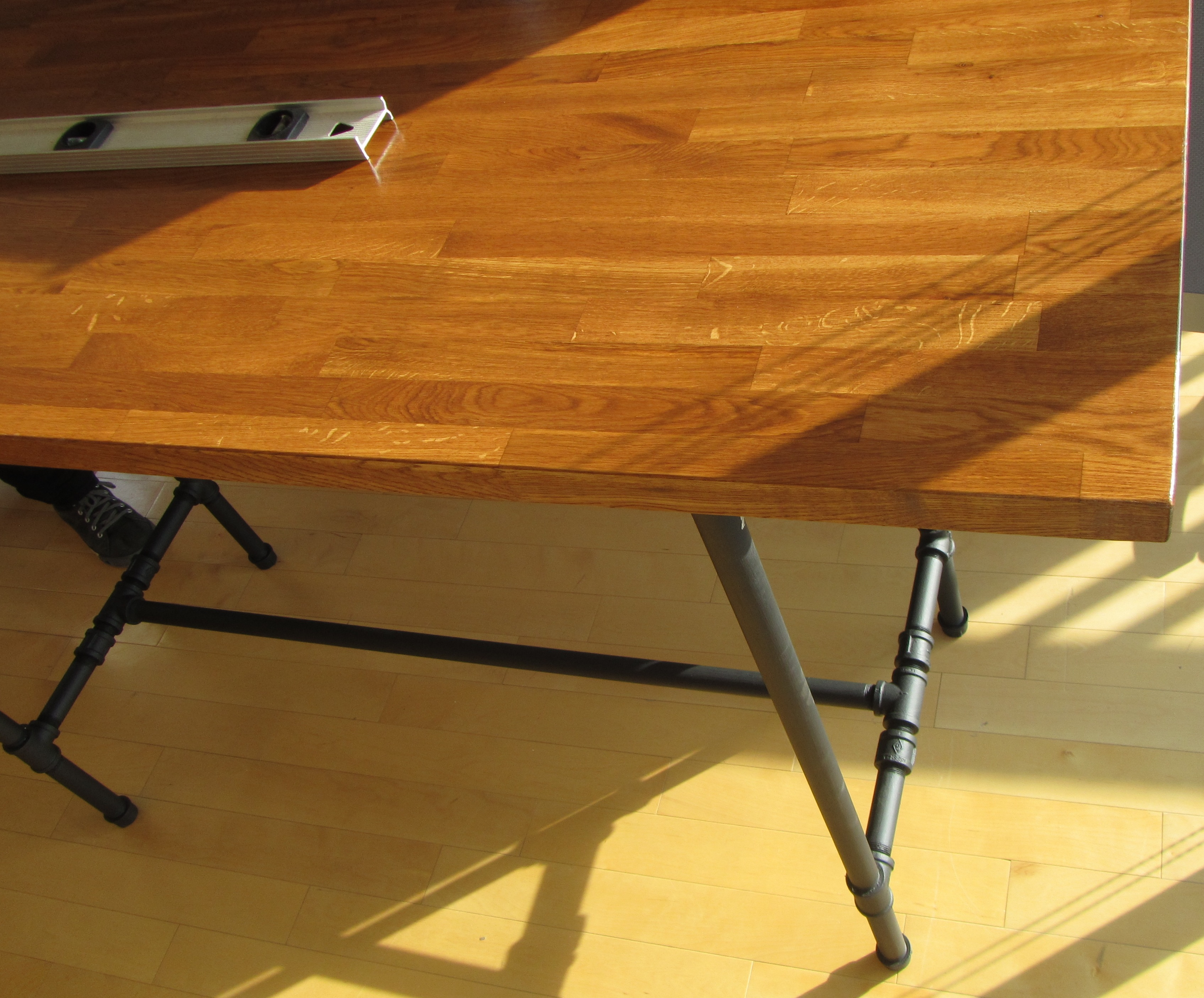 Ikea Adjustable Table Legs Steel Pipe Standing Desk - Jessica's Blog