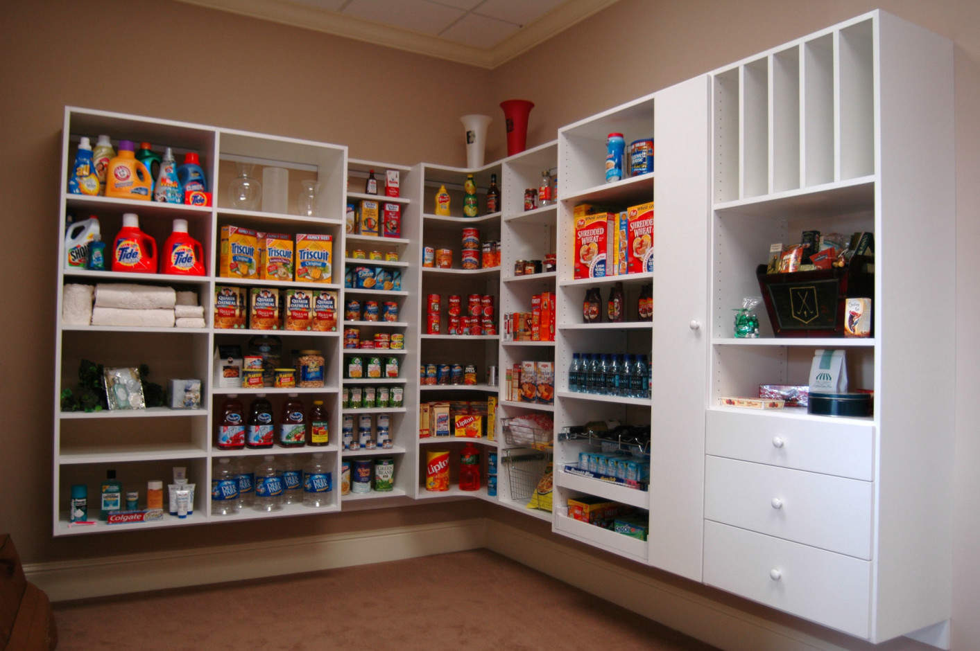 Pantry Shelves Atlanta Pantry Storage Solutions Spacemakers Custom Closets