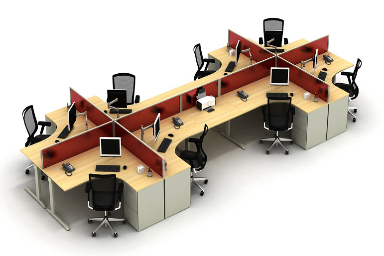 Picture Of Techo Arkus C Office Desk Systems