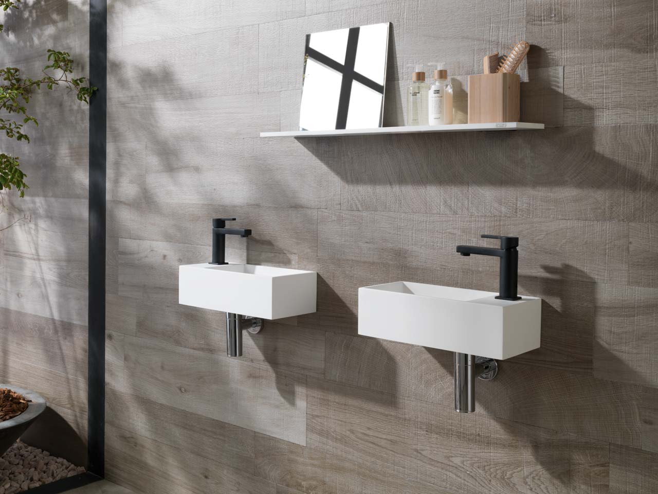 Lavabo Krion Porcelanosa Bathrooms Spacers Showrooms
