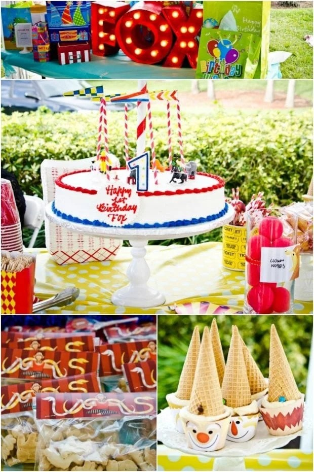 Travel Must Haves 2017 Circus Themed Boys First Birthday Party Spaceships And