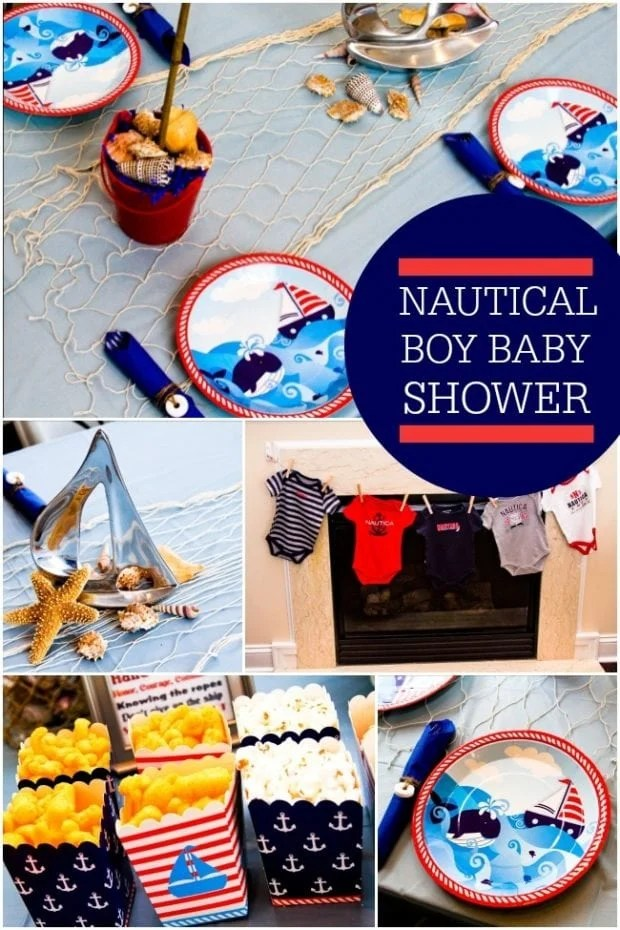 Travel Must Haves 2017 Nautical Themed Boy Baby Shower Spaceships And Laser Beams