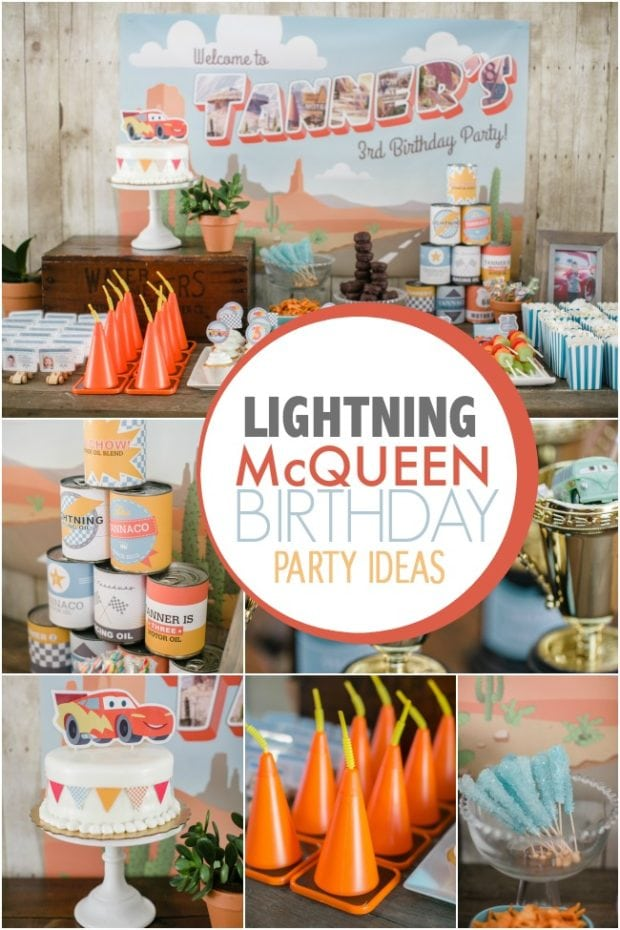 lightning mcqueen birthday party ideas
