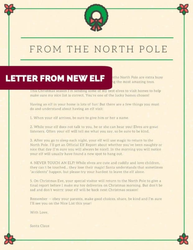 5 Awesome Downloadable Elf on the Shelf Letters, Ideas and Templates