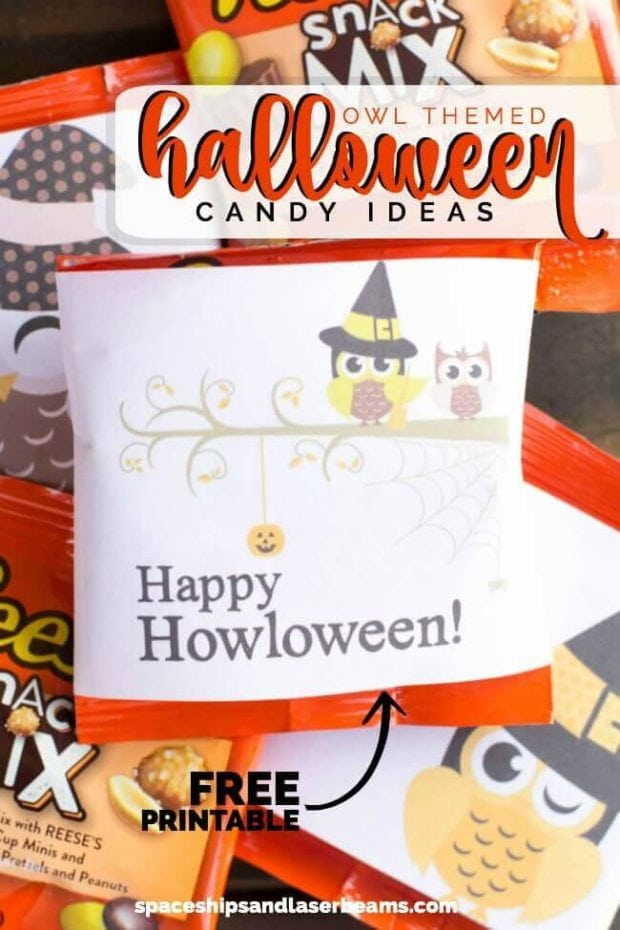 Owl Themed Halloween Candy Ideas + Free Printable - Spaceships and
