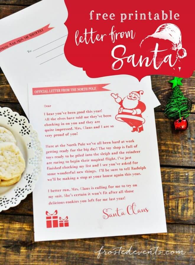 15 Free Printable Letters from Santa Templates - Spaceships and