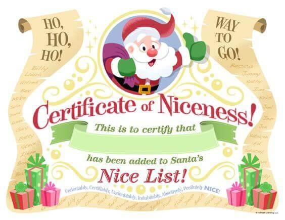 free printable santa certificate template