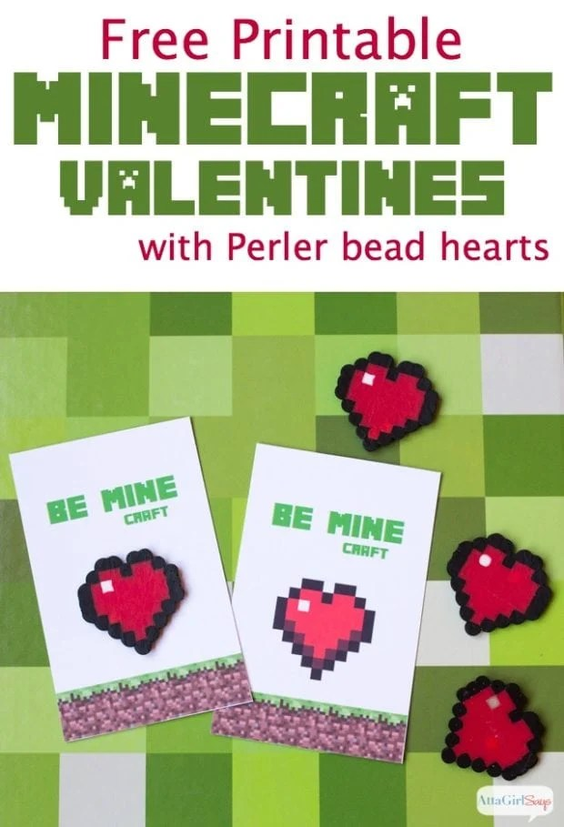 12 Minecraft Valentine Cards and Ideas - Spaceships and Laser Beams