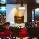 Indoor lounge at Hotel Saint Cecilia Austin Texas
