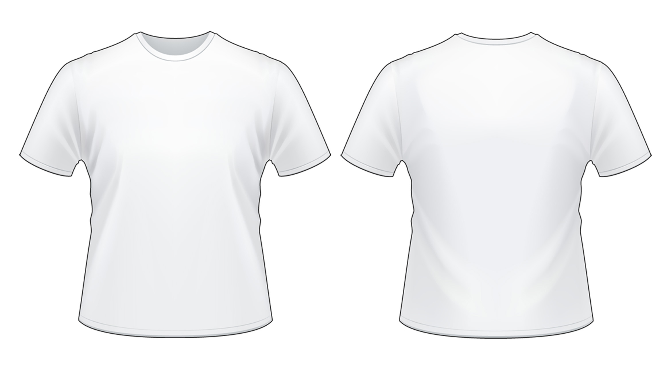 White t shirt for design - Download