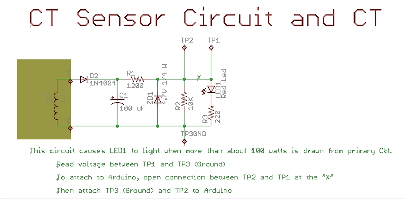 Current Transformer Sensor Circuit