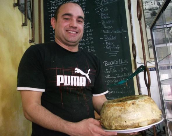 Tortilla, Cordoba, Bar Santos, Spain