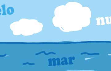 スペイン語 海 空 雲