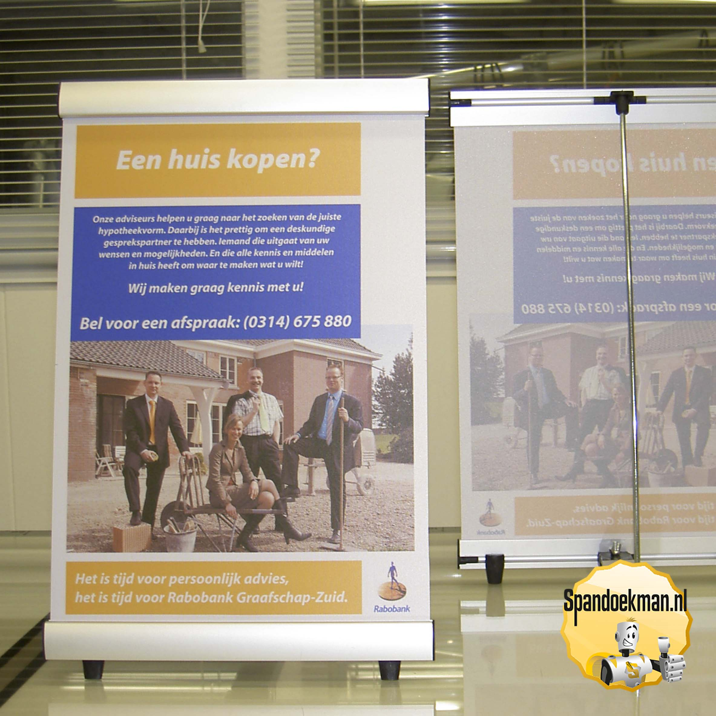 Roll Up Banner Verlichting Roll-up Banners, Drukwerk, Reclame Specials - Spandoekman