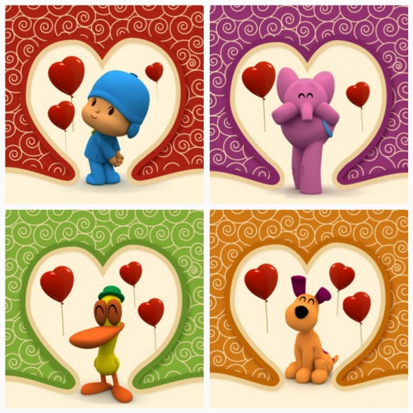 Pocoyo Valentines Cards Printable Activity. 1024 x 1024.Free Valentine's Day Card Download