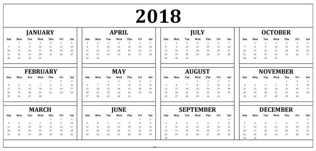 fill in calendar 2018 - Apmayssconstruction