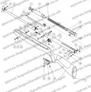air rifle parts diagram