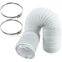 20 FT Extra Long Vent Hose Extension & Clips for INDESIT ...