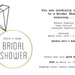 Glitz & Glam bridal shower tea party