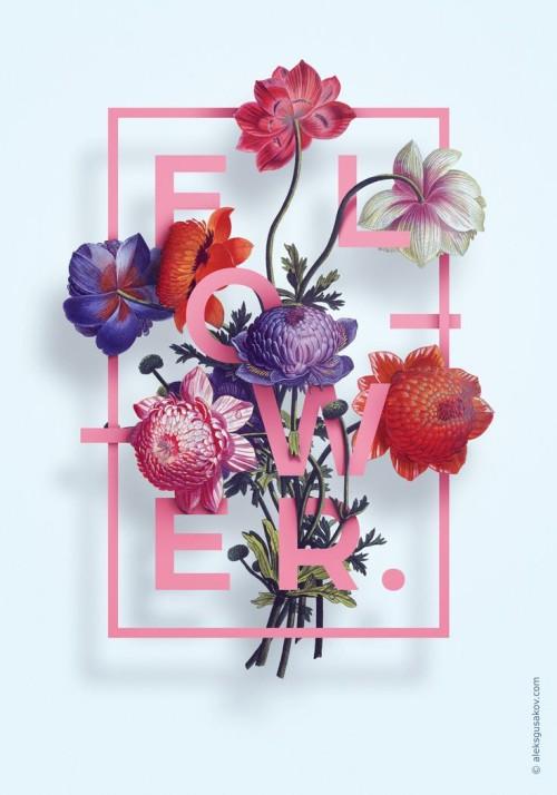 flowers + typography