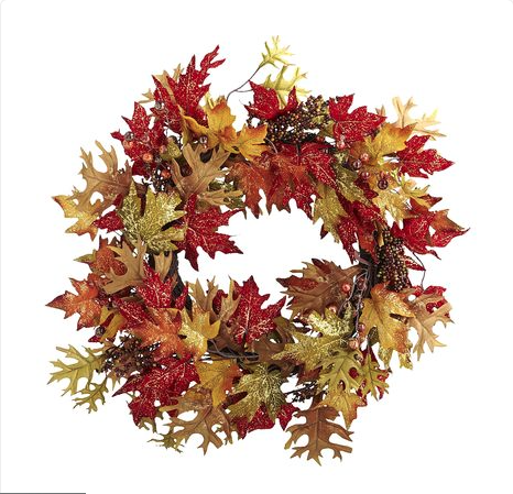 Pier 1 Faux Mixed Leaves Wreath