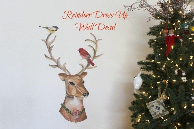 Dress-Up Reindeer Fabric Wall Decals