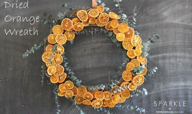 Dried Orange Wreath