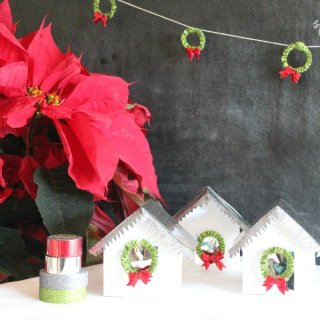Paper Christmas Houses with Scotch Expressions Tape #ad