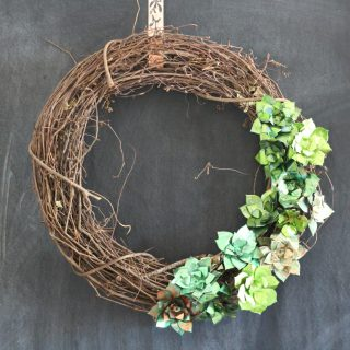 Metallic Succulent Wreath... Upcycle those aluminum cans in to a beautiful, shiny succulent wreath. Perfect year round!