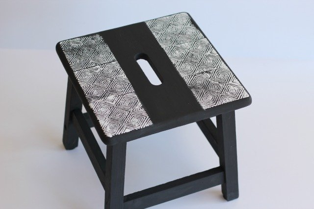 stamped foot stool
