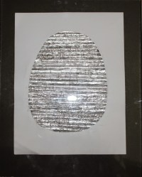 Aluminium foil Easter egg wall art